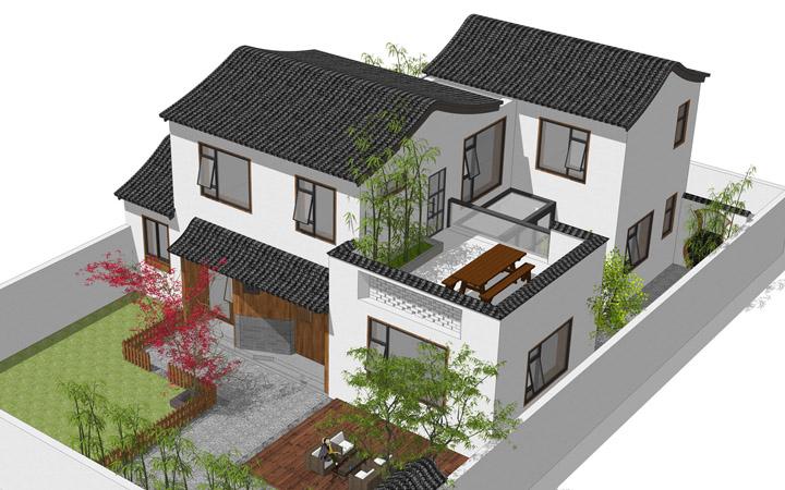 新中式别墅住宅超文艺自建房度假休闲家用建筑结构水暖电图片