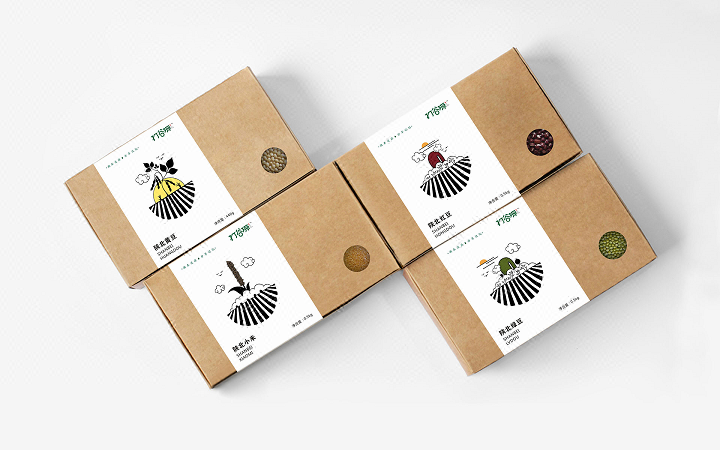 农产品礼盒包装设计瓶贴标签设计手提袋包装袋包装盒包装箱设计