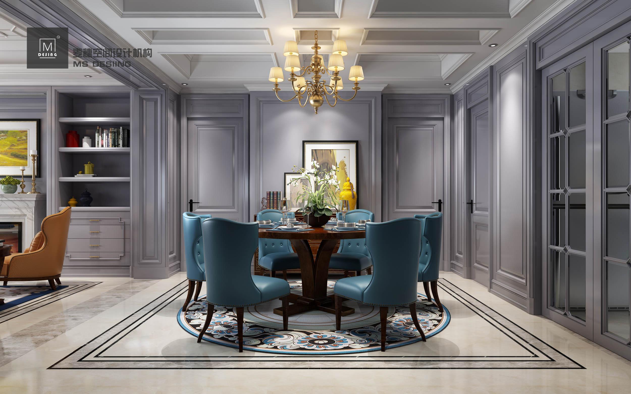 【麦穗】美式简美室内设计家装设计效果图设计别墅自建房新房设计