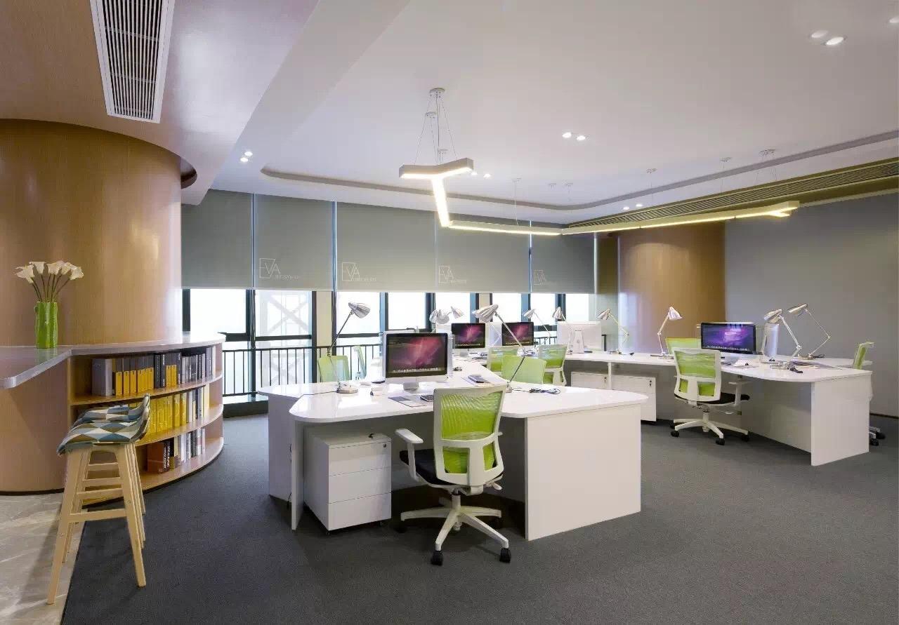 电商办公室装修设计 众创空间设计 会议室 办公区前台