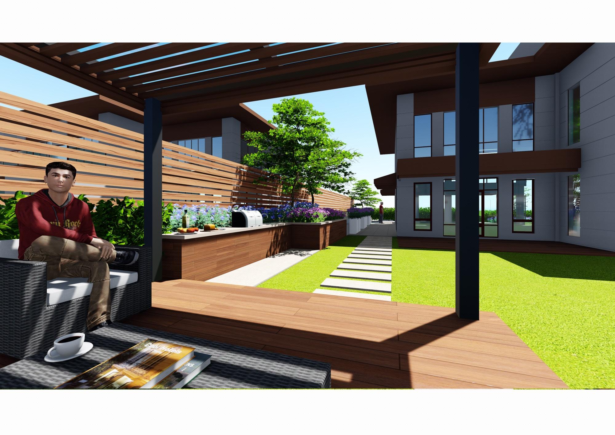 庭院设计/庭院景观/庭院绿化/别墅庭院效果图/私家花园设计