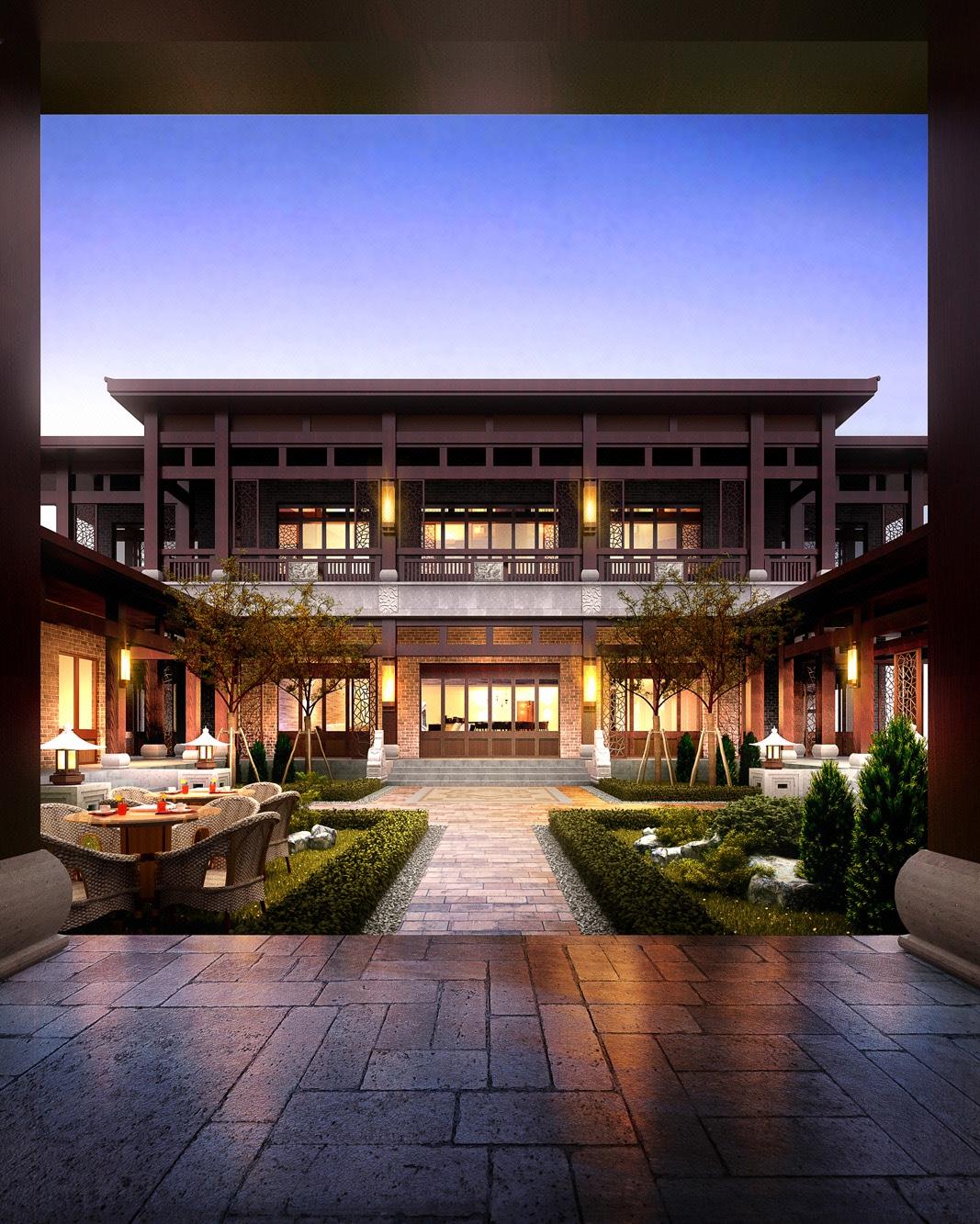 定制 别墅效果图 别墅外观改造设计 别墅外立面 3D建模渲染