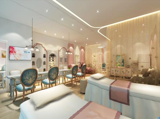 美甲店装修简约现代欧式风格感觉典雅一些,现代一些,带些小资情调.