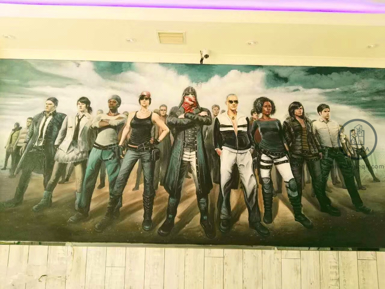 上海墙绘3d立体彩绘手绘涂鸦壁画:上海杰拉网咖连锁彩绘