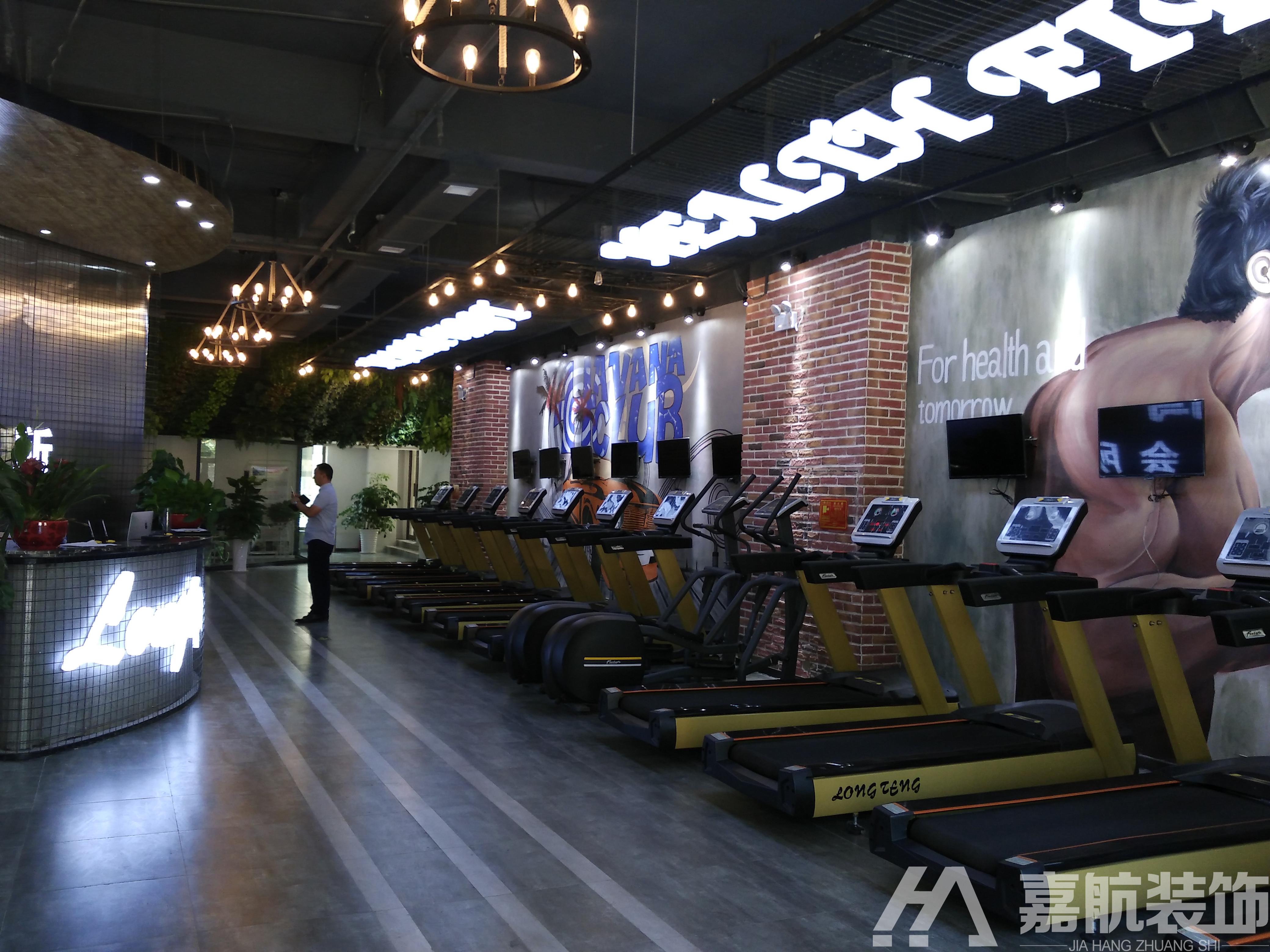 健身房设计,健身房装修效果图,美容店美发店设计装修效果图