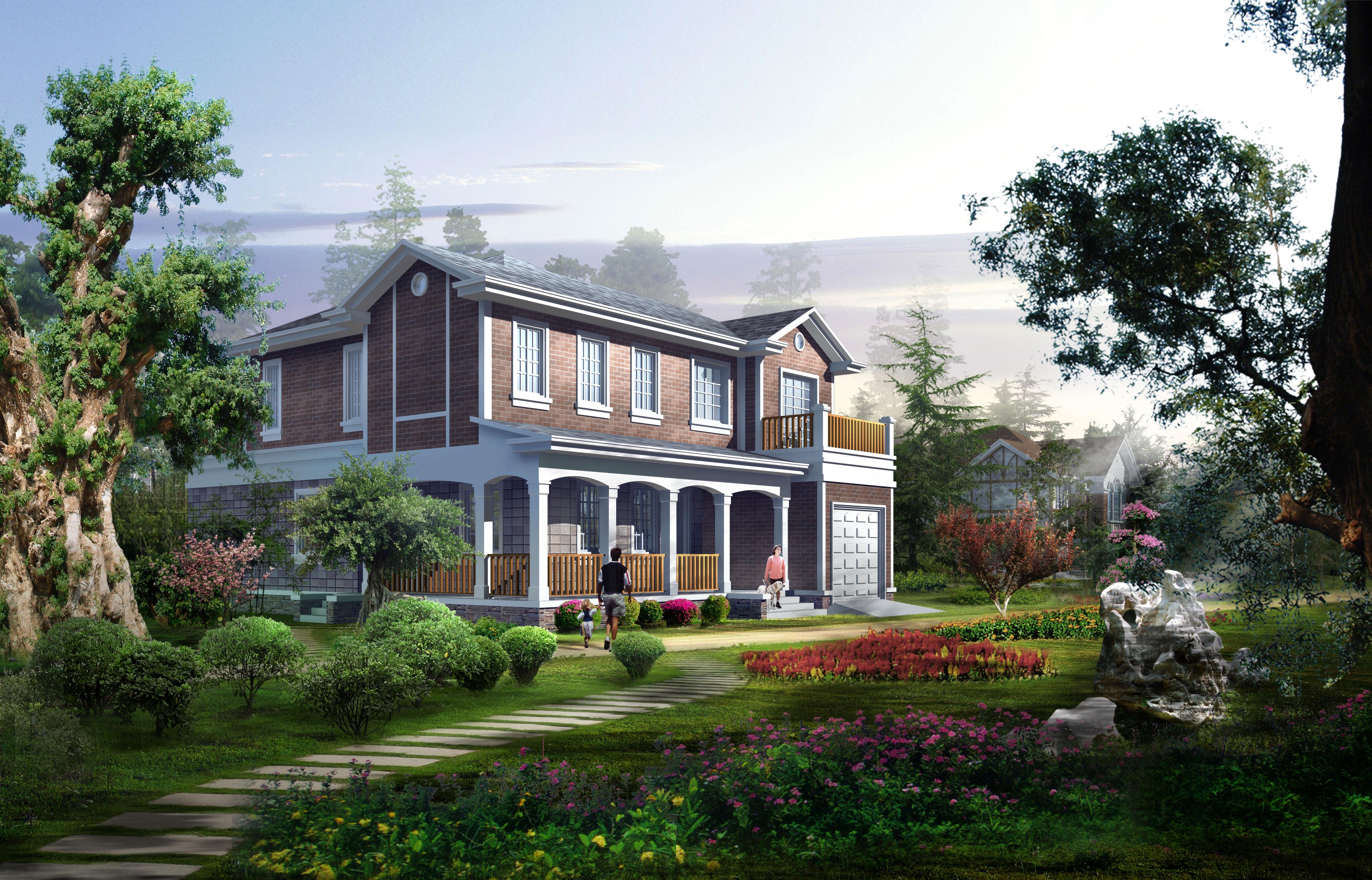 建筑效果图制作,建筑外观设计 ,住宅效果图,商业办公楼效果图