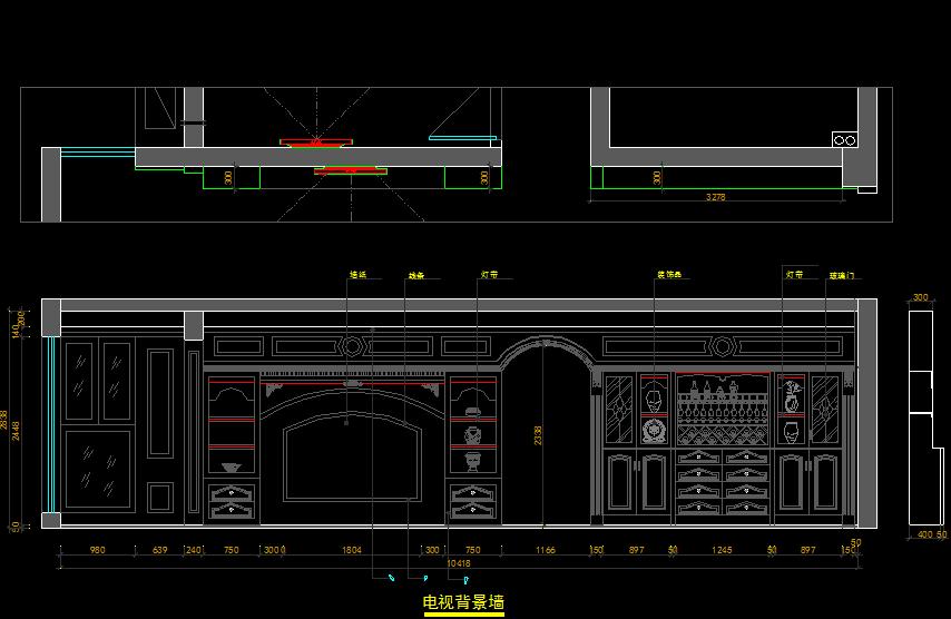 CAD平面海洋施工图CAD家装工装图施工图设项链之星布局设计图图片