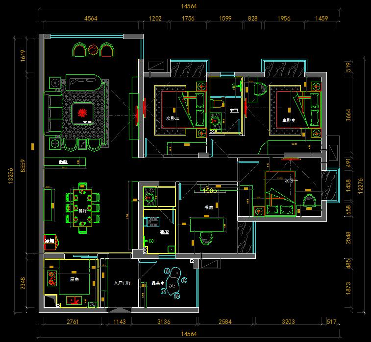CAD布局平面施工图CAD家装工装图施工图设为什么要读室内设计v布局知乎图片
