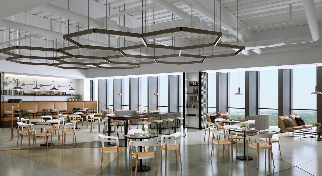 众创办公空间/装修设计/工业风/经理室/效果图/办公室