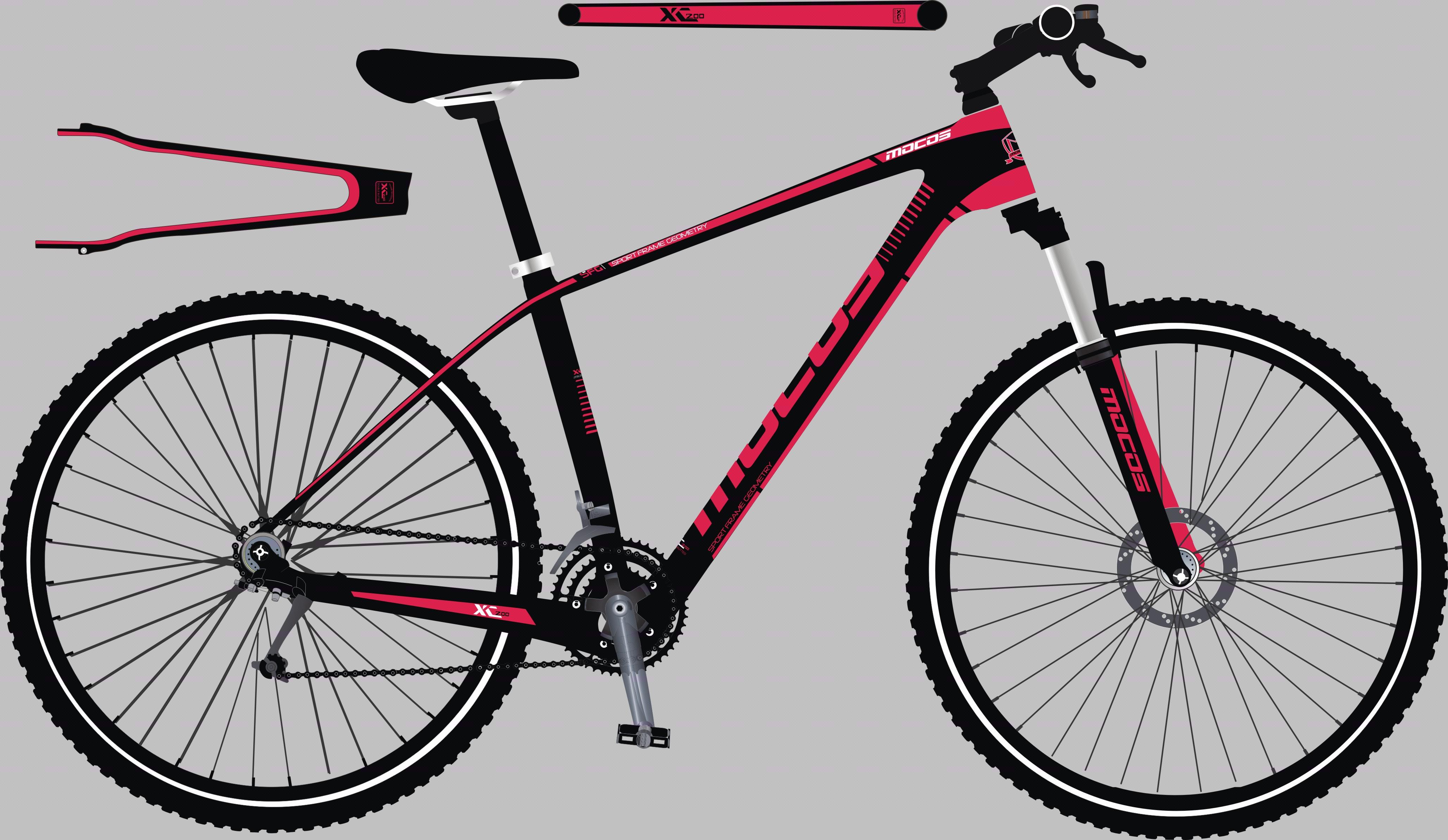 自行车外观贴花设计