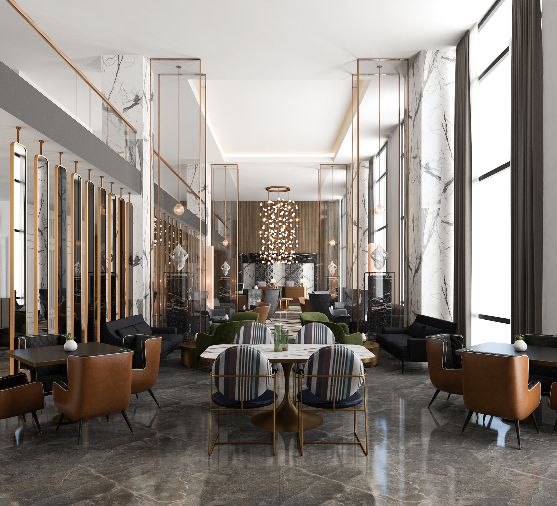 【公装设计-酒店旅馆】酒店旅社农家乐室内装修设计效果图施工图