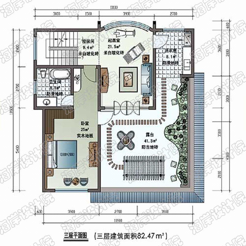 户型设计住宅自建房别墅私家建房房间格局布局房屋功能平面设计图