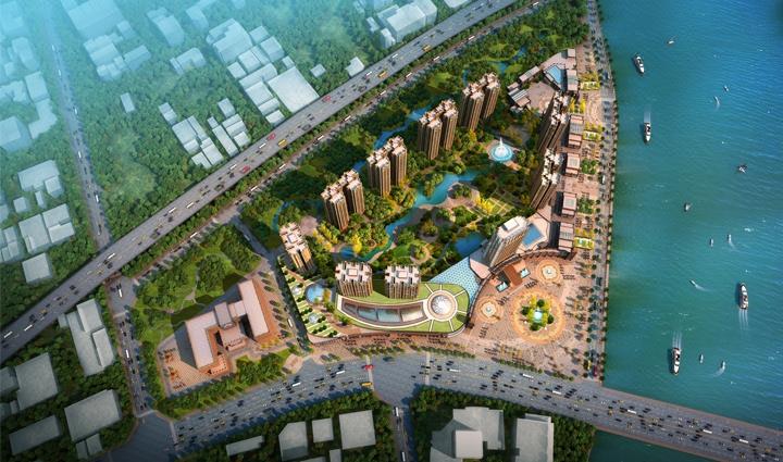景观效果图 庭院设计 草图大师 园林效果图3d建