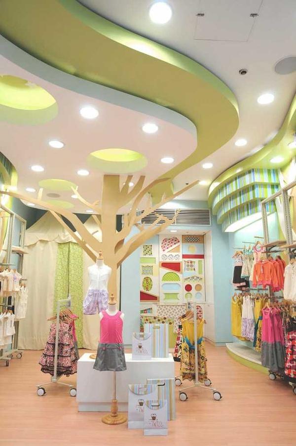 母婴店设计,童装店设计,店面门头效果图,母婴店装修设计