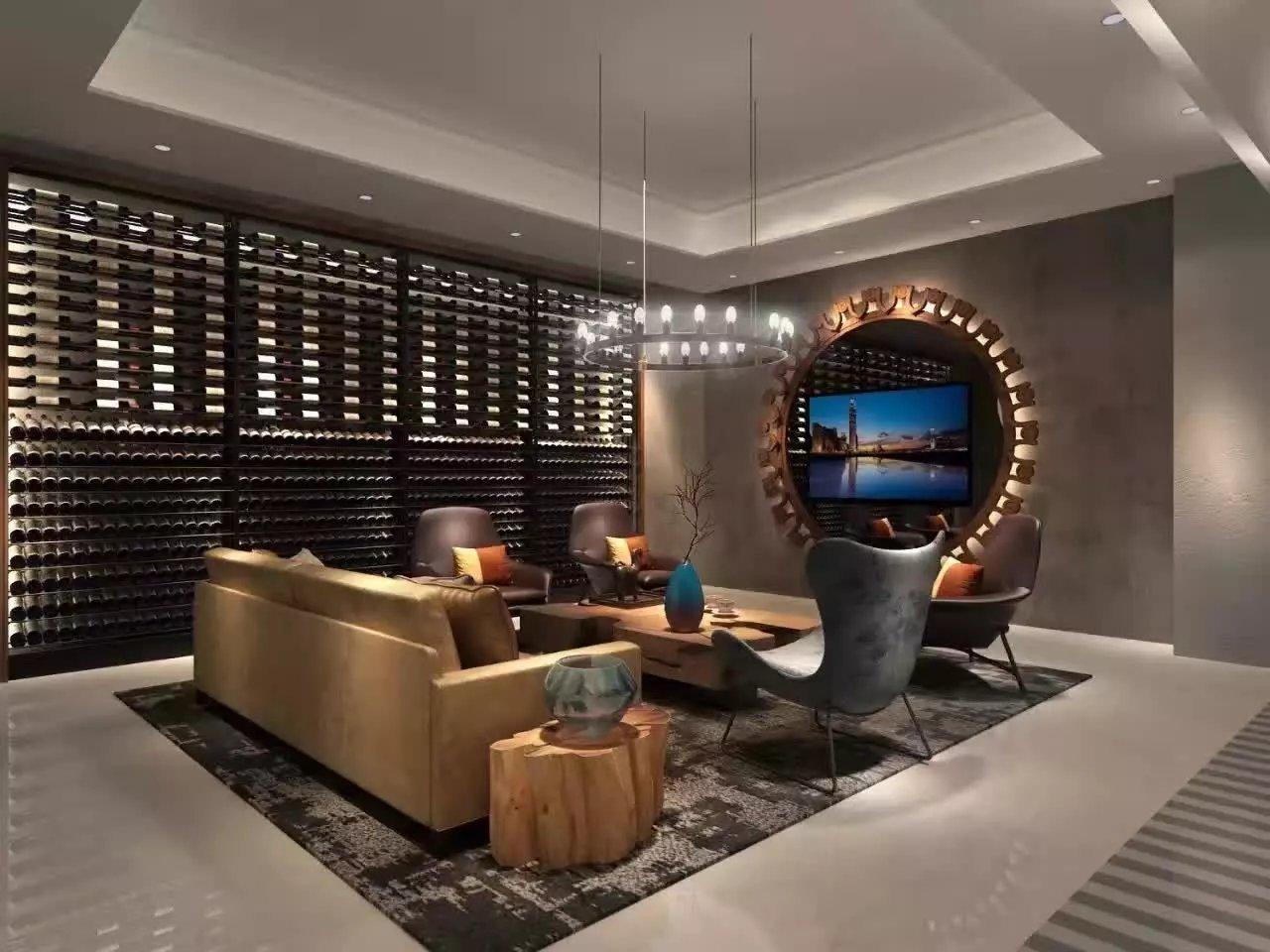 酒窖私人酒庄装修设计效果图设计门头设计效果图施工图