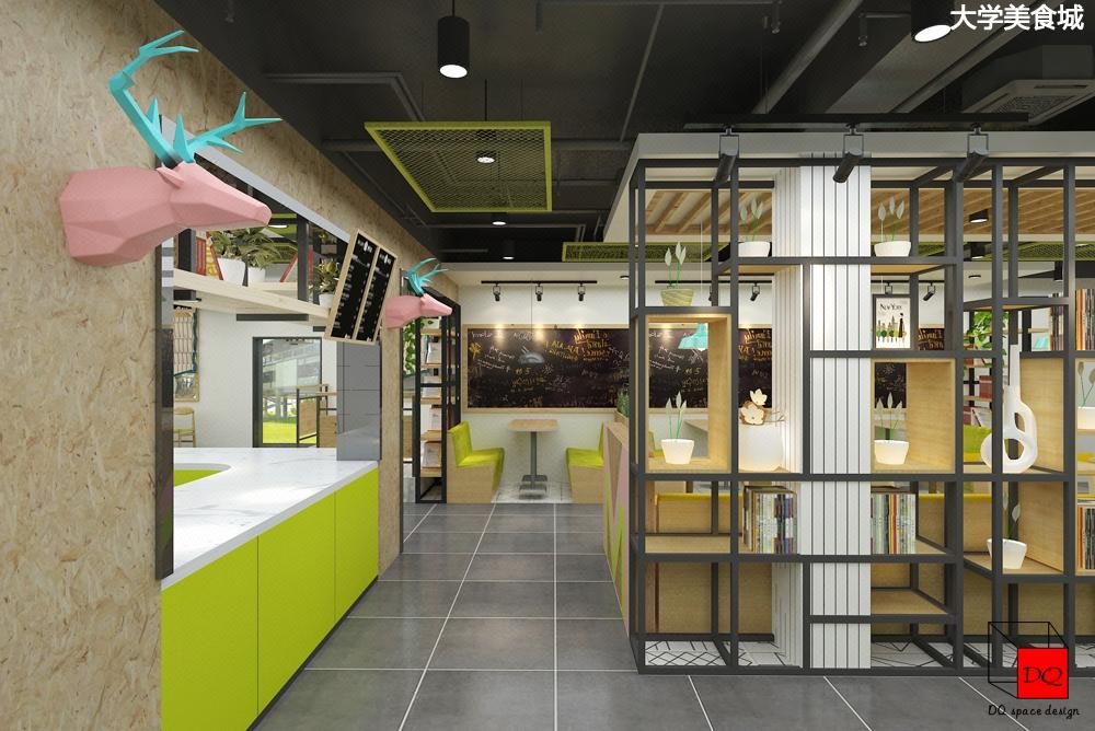饮品奶茶店装修 甜品蛋糕店 咖啡店面装修连锁店设计