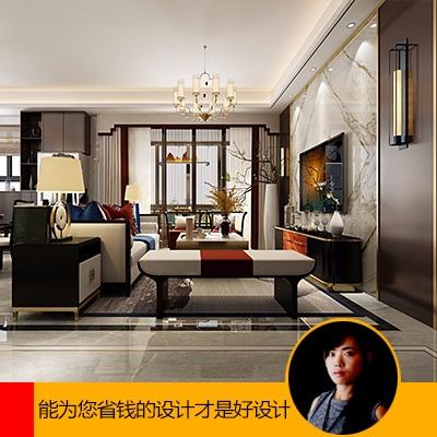 新中式家装设计<hl>新房装修</hl>别墅设计自建房复式楼<hl>装修</hl>设计室内设计