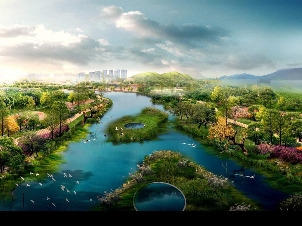 园林景观设计景观效果图景观规划设计小区公园学校绿地景观效果图