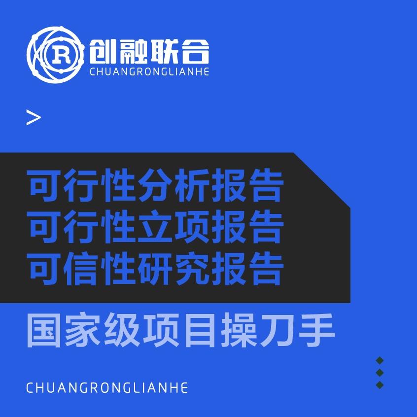 可行性研究报告立项报告可行性研究分析市级省级国家立项报告