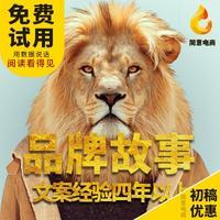 品牌故事公司/企业品牌简介理念文化品牌愿景文章撰写品牌释义