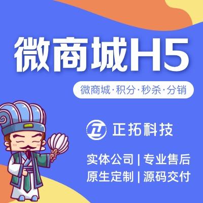 H5开发/微信商城/电商网站/微信公众号开发/H5定制开发