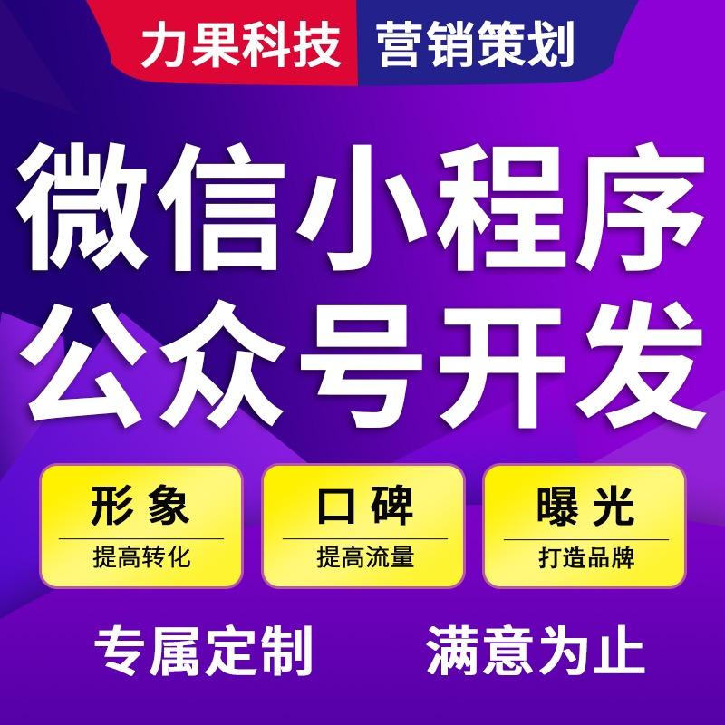 微信开发公众号平台微信小程序分销商城功能H5官网定制开发