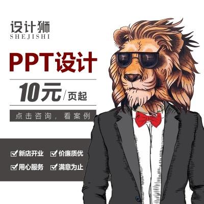 PPT策划制作美化企业代做PPT课件汇报路演 设计 动画定制融资