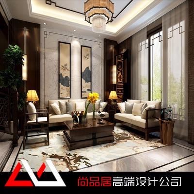 家居装修中式风格别墅装修设计自建房复式楼跃层装室内效果图设计