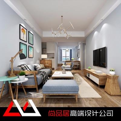 新房设计效果图室内设计现代风格家装设计客餐厅装修施工图平面图
