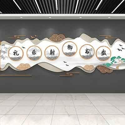 公司企业文化墙设计办公室展示墙形象墙发展历程墙设计制作施工