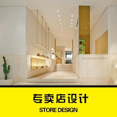 3D效果图,装修设计、室内设计、服装店设计,鞋帽专卖店女装