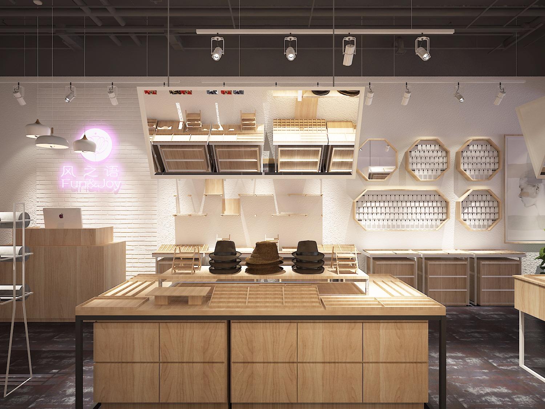 店铺装修设计,饰品店设计,鞋帽店效果图,百货店装修