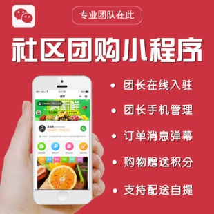 乐松鼠拼拼蔬东坡模版社区团购 小程序 小区团长城市招商直播功能