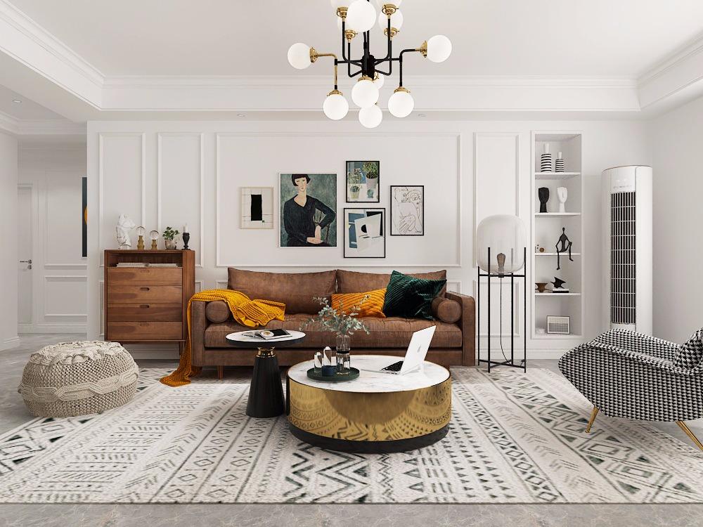 现代北欧法式风格<hl>家装</hl>效果图设计混搭风格<hl>家装</hl>设计<hl>家装</hl>效果图设计