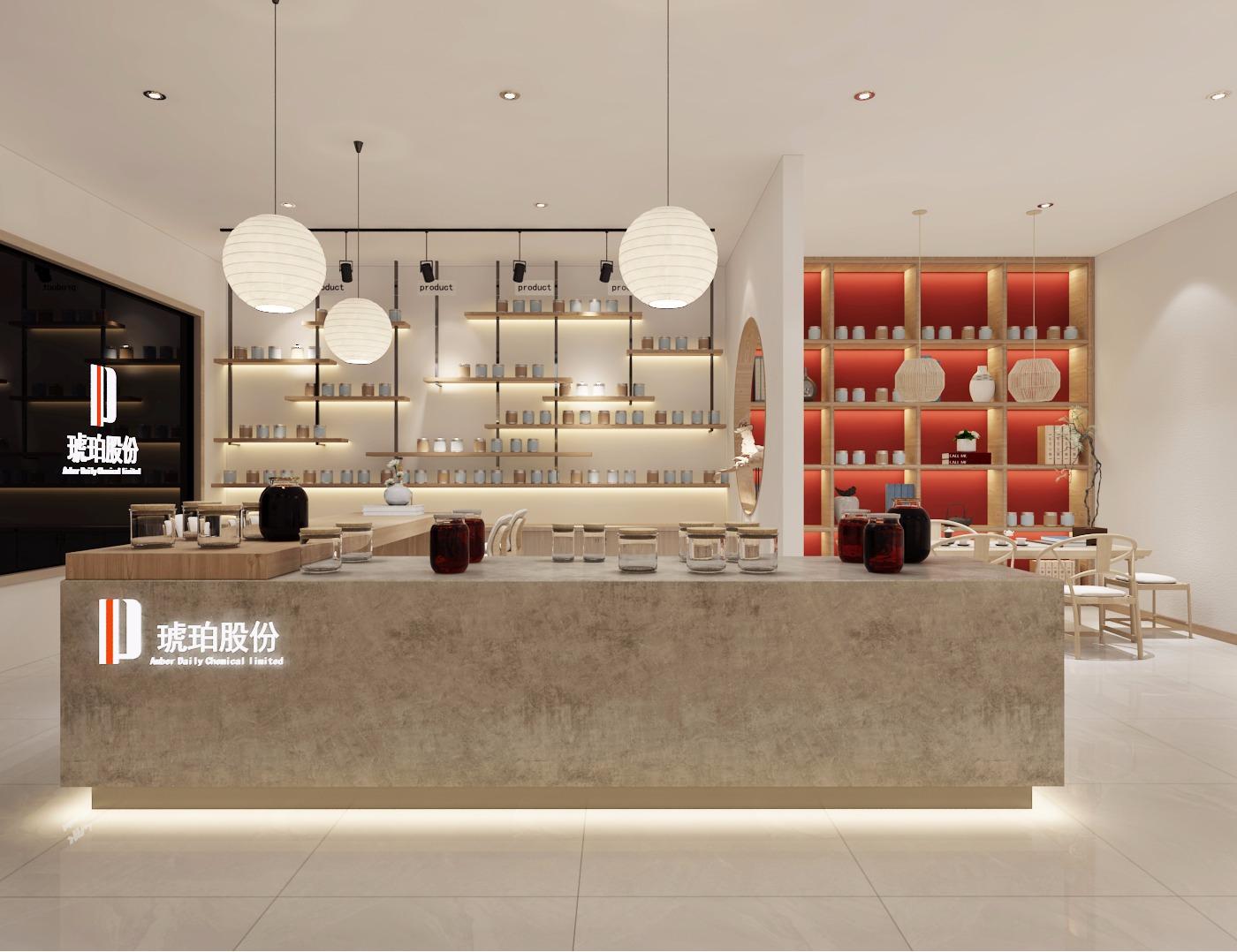 日化展厅设计香精香料展厅设计公装效果图设计展厅设计