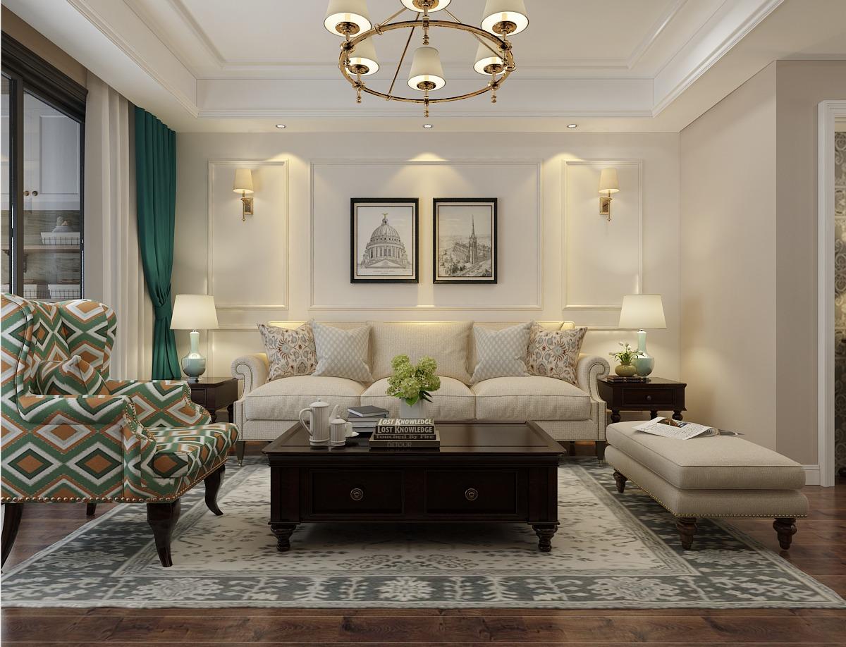 简欧美式<hl>家装</hl>效果图设计室内设计新房装修设计家庭装修设计效果图