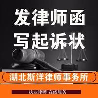 发律师函代写起诉状答辩状律师诉讼指导法律顾问法律文书合同代写