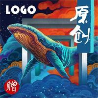 时尚简约中式扁平新潮轻奢素雅大气科技logo图标LOGO设计