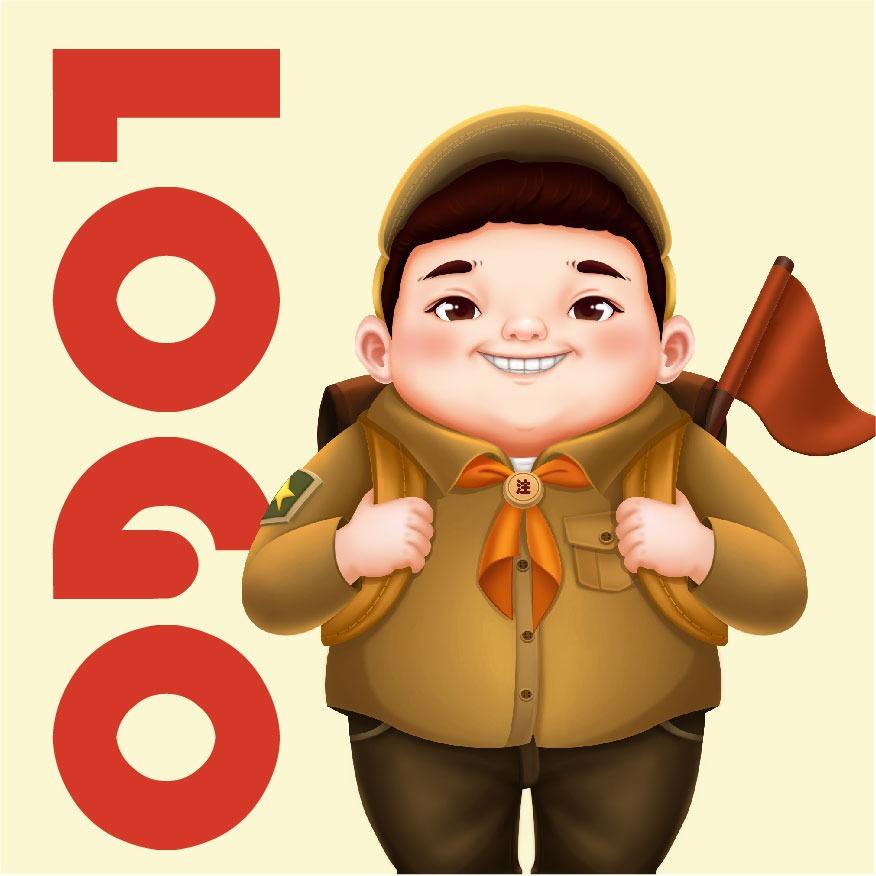 锐朗设计卡通logo设计原创卡通ip商标插画logo手绘设计