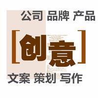 品牌故事公司简介绍企业文化产品宣传手册理念文案撰写作策划定位