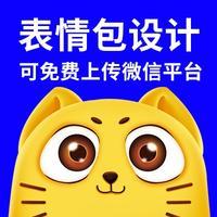 微信动态表情包设计企业GIF动图制作QQ静态卡通手绘三视图