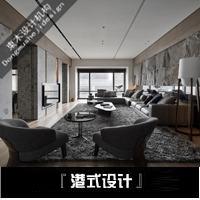 室内装修设计师服务现代简约家装三居室工装房子全案施工图效果图