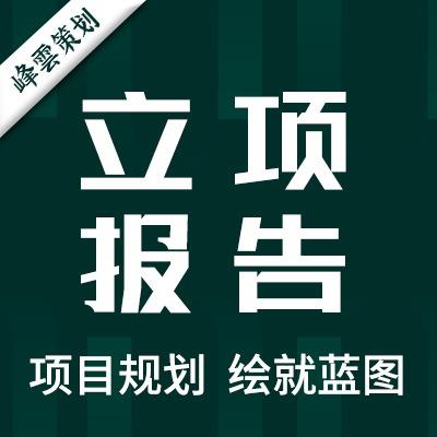立项报告项目规划立项建议概念性规划创业融资众筹方案可行性研究