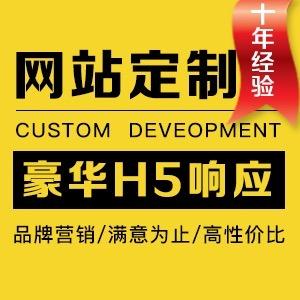 豪华型html5响应式网站建设 PC平板手机三合一 网站开发