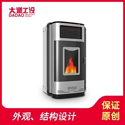 工业设计外观设计结构设计外观设计家家乐暖炉
