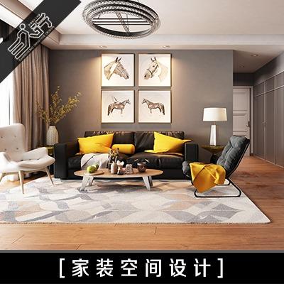 现代低奢风格新房装修效果图设计室内空间装修装饰施工图设计宜家