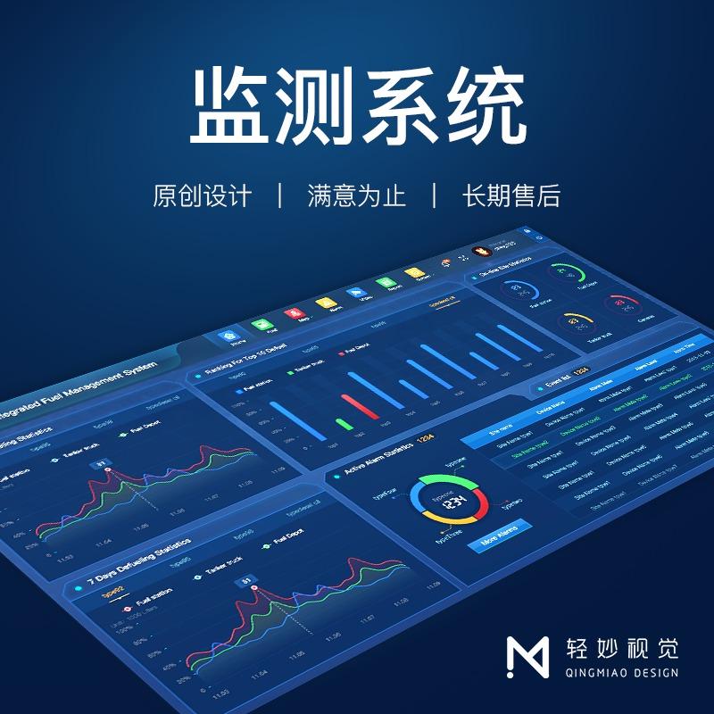 软件ui界面设计终端机运营监控监测医疗页面运维统计智能慧平台