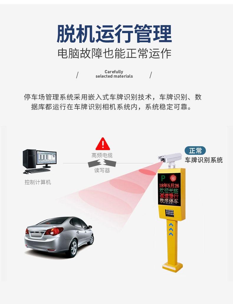 车牌识别停车场收费系统