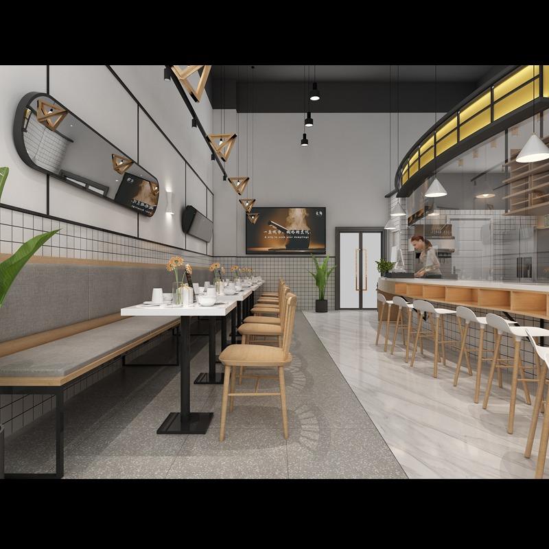 公装效果图餐饮设计办公室设计家装设计店铺设计餐厅设计购物空间