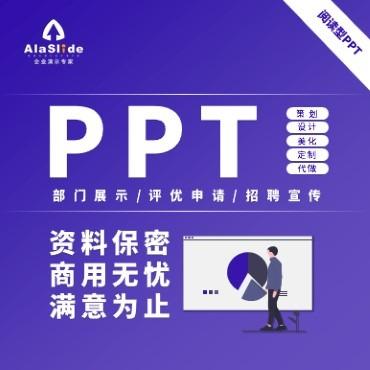 部门展示/评优申请/招聘宣传PPT策划设计美化定制